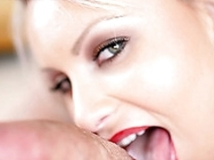 Loren recives massive cum attempt from one horny client