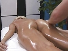 Pretty angel is submissive to her masseur in his hardcore fun