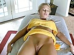 Babe sucks big cock in advance of a fuck