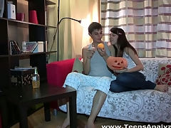 Anything can happen on Halloween and even this shy eighteen y.o. honey lastly makes a decision to try anal sex with her ever excited boyfriend. This Babe begins it all with a mind boggling oral sex engulfing dong good to prepare it for her constricted virgin wazoo hole, then follows with getting anally fingered and taking some great backdoor fucking in various poses. Doggystyle or not - this inexperienced legal age teenager cutie enjoys each pont of time of it with absolutely recent unfathomable and extremely powerful sensations.