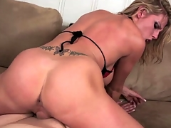 Booty grinding on thick schlong