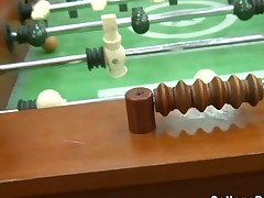 Foosball gets naughty with college teens fucking for a win