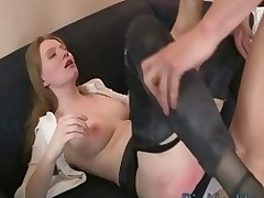 One very ardent beauty receives her holes fingered with the addition of fucked
