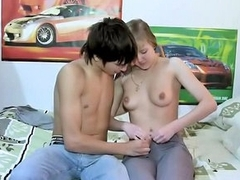 These horny young amateurs get banged relating to front be incumbent on camera!