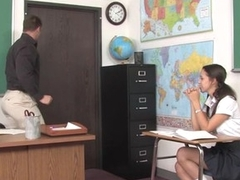 Teacher thinks it is time for his student to try a aged dick