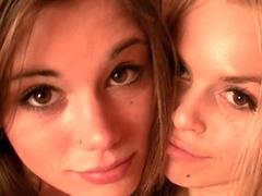 Ephemeral Vanity and Sabrina Blond fooling aroun bare in sauna