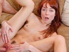 Sexy Redhead calls  a revenge fuck after finding a text