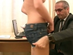 Lusty pleasure for horny teacher in feign to pass the exams